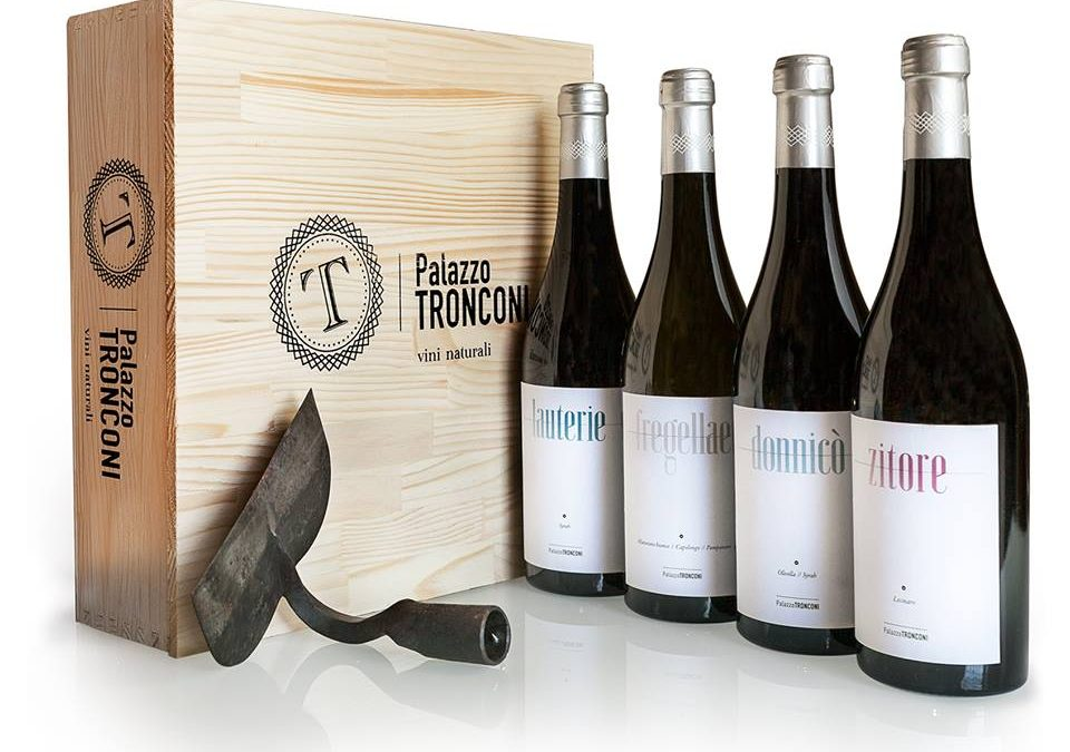 palazzo tronconi natural wine bottles